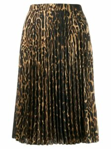 Burberry leopard-print pleated skirt - Black