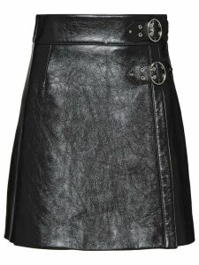 Miu Miu buckled A-line skirt - Black