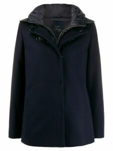 Fay short hooded coat - Blue