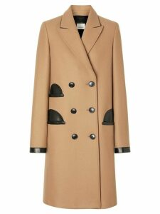 Burberry double-breasted tailored coat - NEUTRALS