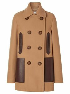 Burberry double-breasted peacoat - Brown