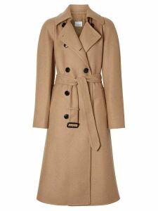 Burberry cashmere double-faced trench coat - NEUTRALS