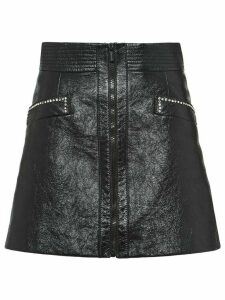 Miu Miu shiny A-line skirt - Black