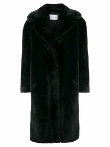 STAND STUDIO oversized faux fur coat - Black
