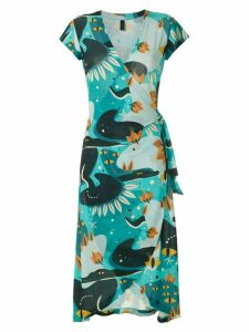 Lygia & Nanny Falcão printed jersey dress - Blue