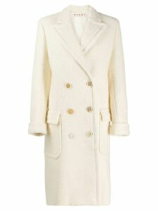 Marni virgin wool knit coat - White