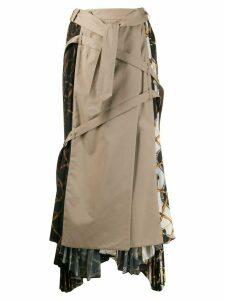 Rokh hybrid trench skirt - Brown
