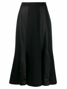 Aalto contrast panel skirt - Black