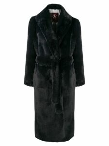 srvz club belted coat - Grey