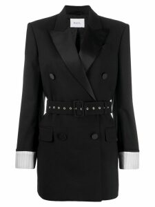 Racil double breasted tuxedo blazer - Black