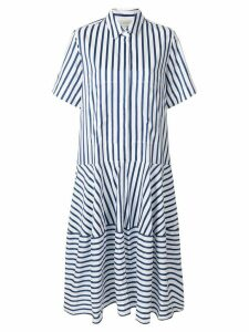 Lee Mathews striped shirt dress - Blue