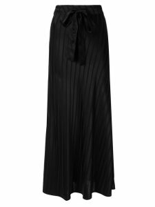 Lee Mathews tie waist straight skirt - Black