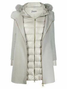 Herno layer effect coat - White