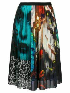 Paul Smith printed pleated skirt - Black