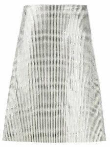 Bottega Veneta A-line embellished skirt - 9223 Toile+crystal gold
