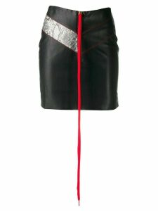 Mia-iam shoestring zip skirt - Black