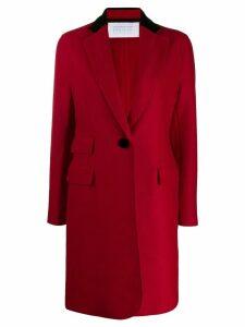 Harris Wharf London single breasted midi coat - Red