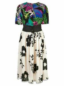 Rentrayage printed Dragon Lady shirt dress - Multicolour