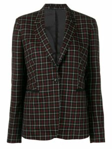 Paul Smith single-breasted check blazer - Black