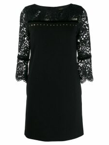 LIU JO laced panels short dress - Black