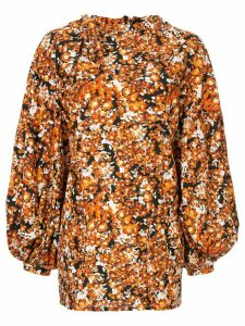CAMILLA AND MARC Asterid print midi dress - ORANGE