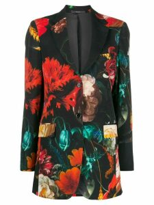 Paul Smith floral print blazer - Black