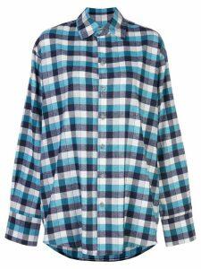 Natasha Zinko check-print oversized shirt - Blue