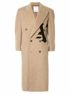 Ports V double-breasted logo coat - Neutrals
