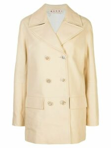 Marni double-breasted coat - Neutrals