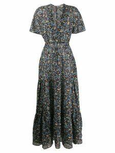 Stella McCartney deep-V printed maxi-dress - Black