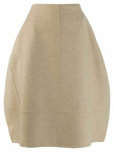 Jil Sander puffball midi skirt - Brown