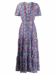 Stella McCartney deep-V floral maxi-dress - Black