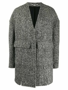 Stella McCartney oversized wool coat - Black