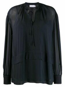 Calvin Klein sheer tie fastened top - Blue