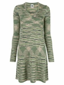 M Missoni v-neck sweater dress - Green