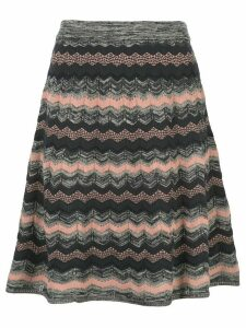 M Missoni striped A-line skirt - Blue