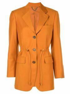 Salvatore Ferragamo drawstring waist tailored blazer - Orange