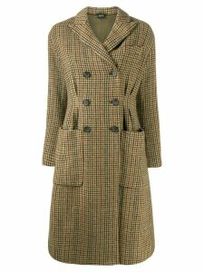 Aspesi double buttoned houndstooth coat - Brown