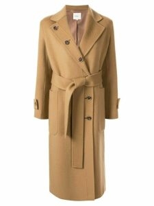Moon J belted double-breasted coat - Brown