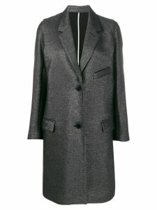 Zadig & Voltaire Marla lurex single breasted coat - Black