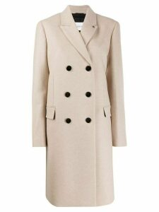 Calvin Klein Crombie double-breasted coat - Neutrals