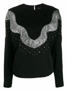Isabel Marant Valia sequin embellished sweatshirt - Black