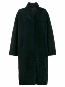Liska textured mid-length coat - Blue