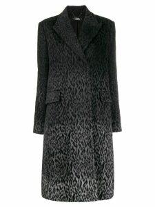 Karl Lagerfeld Karl X Carine Leopard Coat - Grey