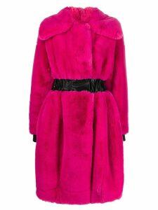 Karl Lagerfeld Karl x Carine fantasy fur coat - PINK