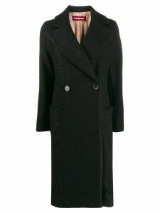 Guardaroba textured boxy double-breasted coat - Black