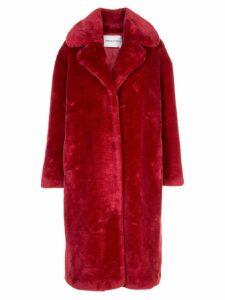 STAND STUDIO textured furry coat