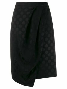 Karl Lagerfeld Karl x Carine satin dot skirt - Black
