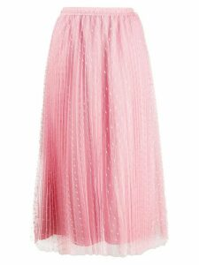 Red Valentino mesh a-line skirt - Pink