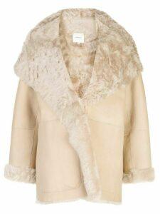 Vince shawl lapel coat - Neutrals
